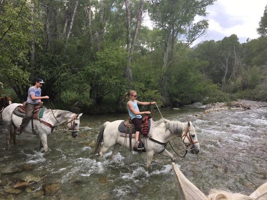 Horseback Riding through Chalk Creek
