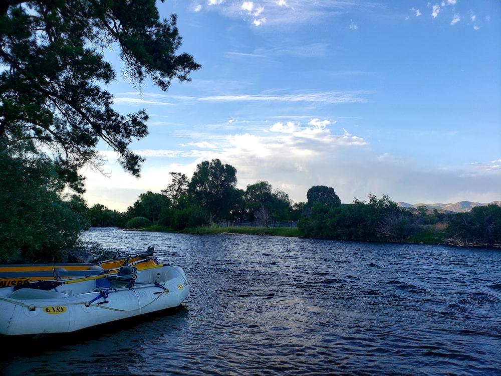 sunset arkansas river